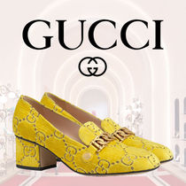 【GUCCI グッチ】ローファー Sylvie Mocassino GG 55mm Yellow