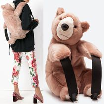 18-19AW DG1807 FAUX FUR PLUSH BEAR BACKPACK