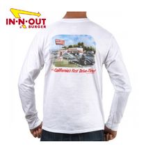 IN-N-OUT BURGER CA FIRST DRIVE-THRU L/S - オリジナル ロンT