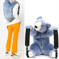 18-19AW DG1809 FAUX FUR PLUSH BEAR BACKPACK