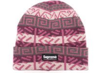 Supreme  Brushed Pattern Beanie 18 FW  WEEK 5