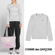 Comme des Garcons Play Little Red Heart Stripe 長袖 Grey