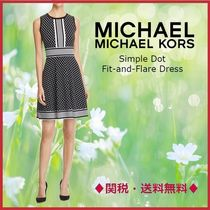 MICHAEL マイケルコース Simple Dot Fit-and-Flare ワンピース