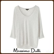 MassimoDutti♪TEXTURED COTTON/LYOCELL T-SHIRT