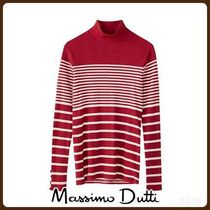 MassimoDutti♪STRIPED RIBBED T-SHIRT