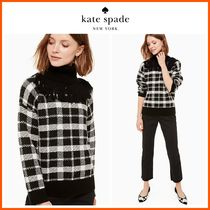 18-19AW!日本未入荷☆kate spade☆plaid fringe turtleneck