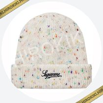 18AW /Supreme Colored Speckle Beanie ビーニー ニット帽 Navy