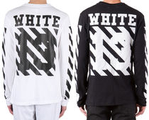 OFF WHITE 13LOGO DIAGONALS L/S T-SHIRT