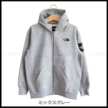 THE NORTH FACE パーカー・フーディ 国内発送★THE NORTH FACE SQUARE LOGO FULL-ZIP HOODIE★3色(6)