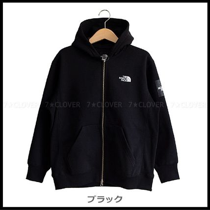 THE NORTH FACE パーカー・フーディ 国内発送★THE NORTH FACE SQUARE LOGO FULL-ZIP HOODIE★3色(8)