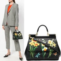 18-19AW DG1822 NARCISSUS PRINT SICILY BAG MEDIUM