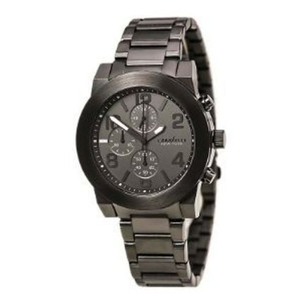 Burberry アナログ時計 腕時計 Caravelle New York Chronograph Gunmetal Stainless Ste