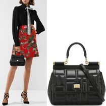 18-19AW DG1823 EMBOSSED SICILY BAG SMALL