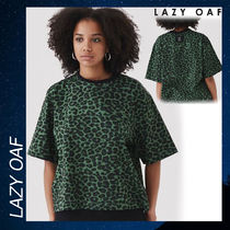 LAZY OAF Not Here Leopard T-shirt Tシャツ シャツ グリーン