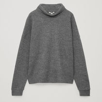COS☆SPECKLED HIGH-NECK TOP / grey