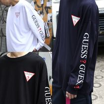 Guess(ゲス) Tシャツ・カットソー 追尾送料/関税込 GUESS ビッグシルエット 袖プリント ロンT