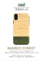 iPhone XS Max ケース天然木 Man&Wood Bamboo Forest 竹素材