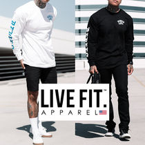 Live Fit(リブフィット) Tシャツ・カットソー 関税込☆Live Fit☆袖ロゴ付き長袖Tシャツ/2色