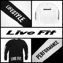 Live Fit(リブフィット) Tシャツ・カットソー 関税込☆Live Fit☆Underline長袖Tシャツ/2色