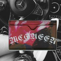 **ALEXANDER MCQUEEN**2018AW PAINTED ROSE CARD HOLDER