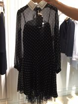 NEW DIOR◆ Star Motif And White Collar Dress◆