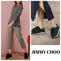 【Jimmy Choo】 Norway knit sneakers with pompoms