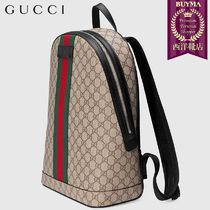 【正規品保証】GUCCI★18秋冬★GG SUPREME BACKPACK WITH WEB