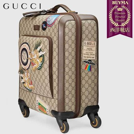 GUCCI スーツケース 【正規品保証】GUCCI★18秋冬★COURRIER GG SUPREME CARRY-ON