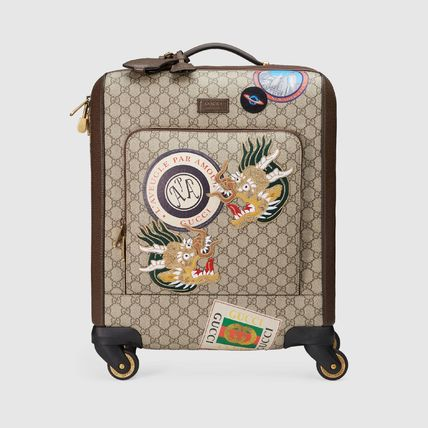 GUCCI スーツケース 【正規品保証】GUCCI★18秋冬★COURRIER GG SUPREME CARRY-ON(4)