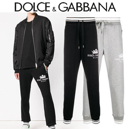 【18-19AW】新作 !  Dolce & Gabbana★COTTON TROUSER WITH LOGO