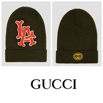 国内発送  GUCCI  LA Patch Beanie Hat