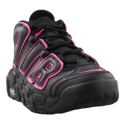 Nike キッズスニーカー 大人もOK AIR MORE UPTEMPO (GS) Black/Pink Blast