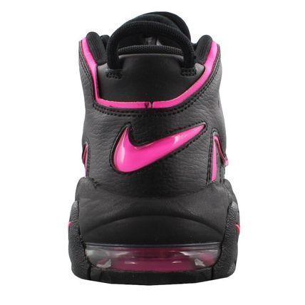 Nike キッズスニーカー 大人もOK AIR MORE UPTEMPO (GS) Black/Pink Blast(3)