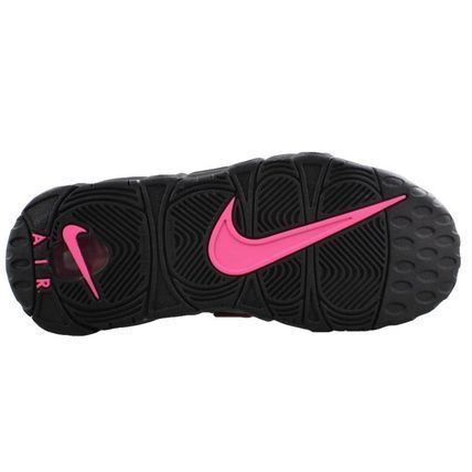 Nike キッズスニーカー 大人もOK AIR MORE UPTEMPO (GS) Black/Pink Blast(4)