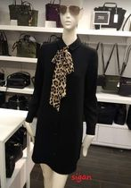 ★KATE SPADE★レオパード柄リボン★シャツワンピ griffin dress