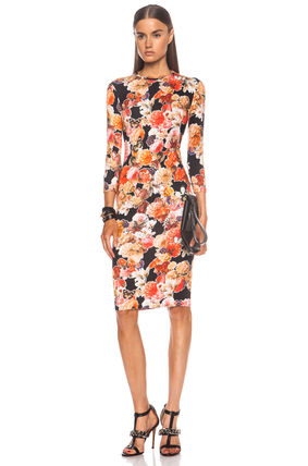 70% SALE *Givenchy* Orange Floral & Butterfly Print Dress