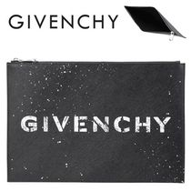 GIVENCHY(ジバンシィ)正規品/EMS送料込み Logo Large Clutch Bag