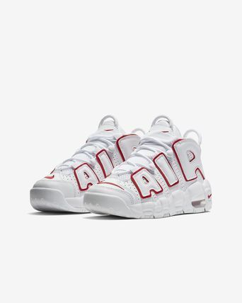 Nike キッズスニーカー 大人もOK AIR MORE UPTEMPO (GS) White/Varsity Red