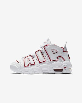 Nike キッズスニーカー 大人もOK AIR MORE UPTEMPO (GS) White/Varsity Red  (2)