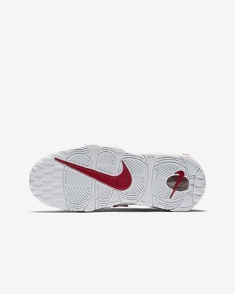 Nike キッズスニーカー 大人もOK AIR MORE UPTEMPO (GS) White/Varsity Red  (3)