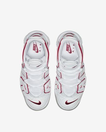 Nike キッズスニーカー 大人もOK AIR MORE UPTEMPO (GS) White/Varsity Red  (5)