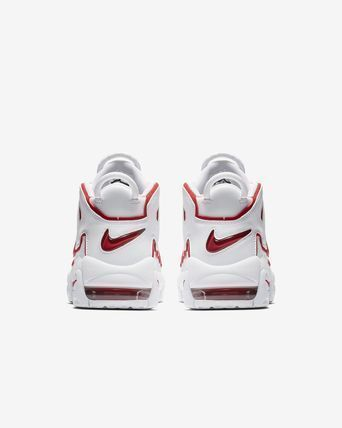 Nike キッズスニーカー 大人もOK AIR MORE UPTEMPO (GS) White/Varsity Red  (6)