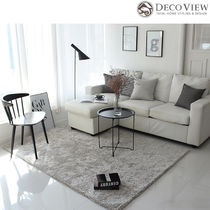 DECO VIEW(デコヴュー)★Lublin Shaggy  Rug -GRAY (150X200)