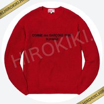 18AW /Supreme Comme des Garcons SHIRT Sweater セーター Red