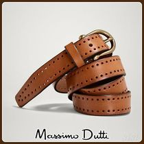 MassimoDutti♪DIE-CUT LEATHER BELT