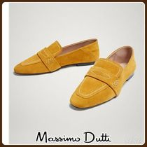 MassimoDutti♪YELLOW SOFT SPLIT SUEDE LEATHER LOAFERS