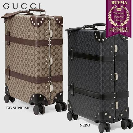 GUCCI スーツケース 【正規品保証】GUCCI★18秋冬★GLOBE-TROTTER GG CARRY-ON