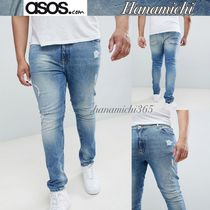 【大きいサイズ】ASOS PLUS*ダメージ/Washed super skinny jeans