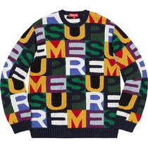 Supreme シュプリーム Big Letters Sweater 18 AW  WEEK 7