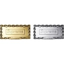 Supreme シュプリーム Chain License Plate Frame WEEK7 AW18